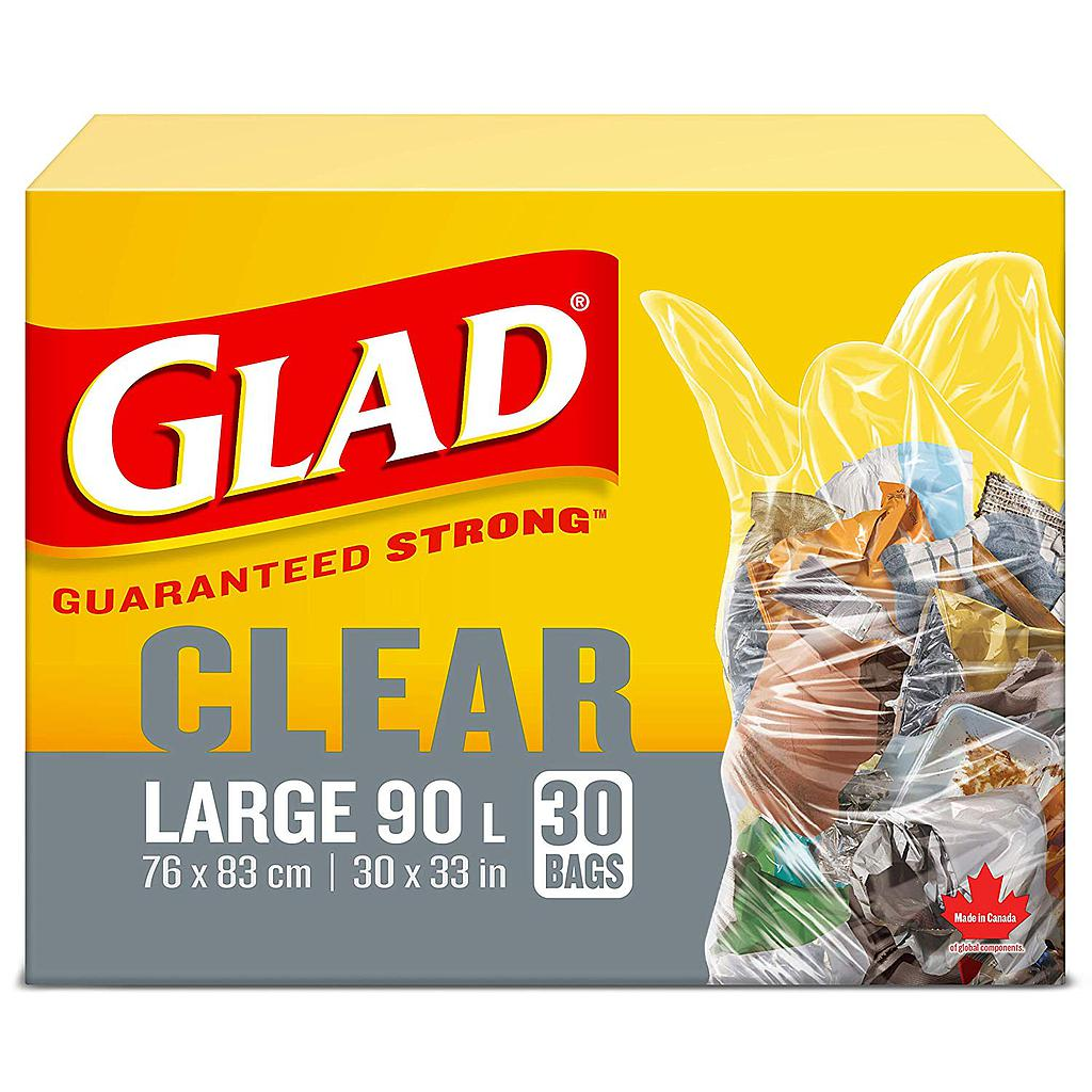 Glad Clear Recycling / Garbage Bags - 30/Box