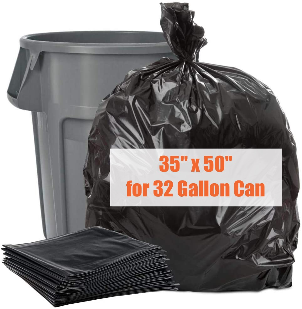 Garbage Bags - Extra-Strong - 100 Pack - 35 x 50