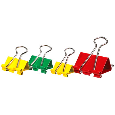 Binder Clips - Classic Colours & Asst'd Sizes - 70 Pack