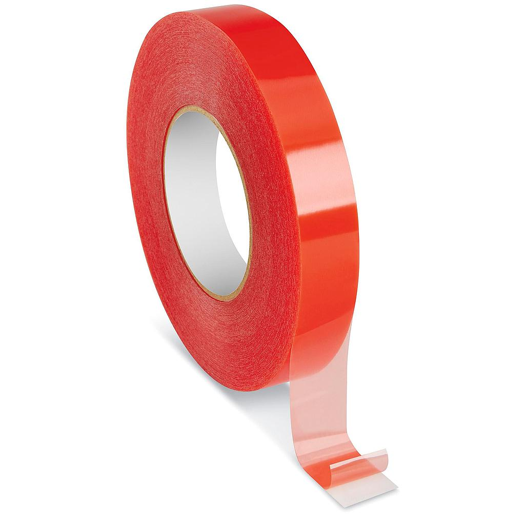 Double-Sided Tape - Clear - Red Film - 1""