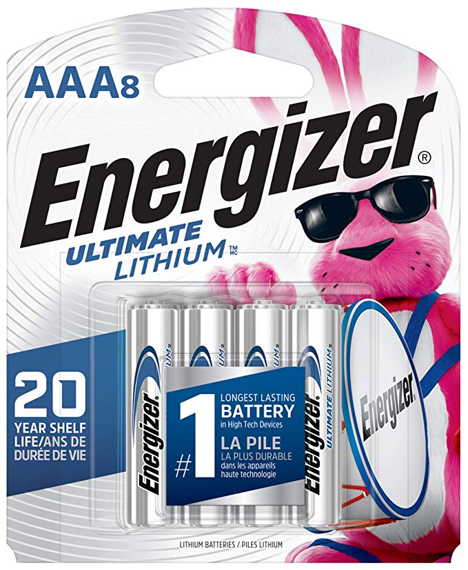 Energizer AAA Lithium Batteries - 8 Pack